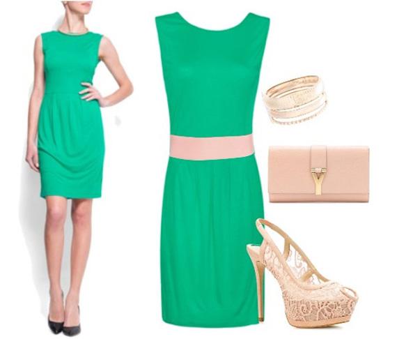 Que accesorios usar con un vestido verde jade