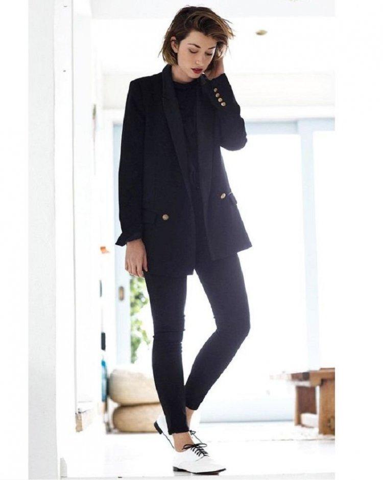 Outfit de oficina estilo boyfriend