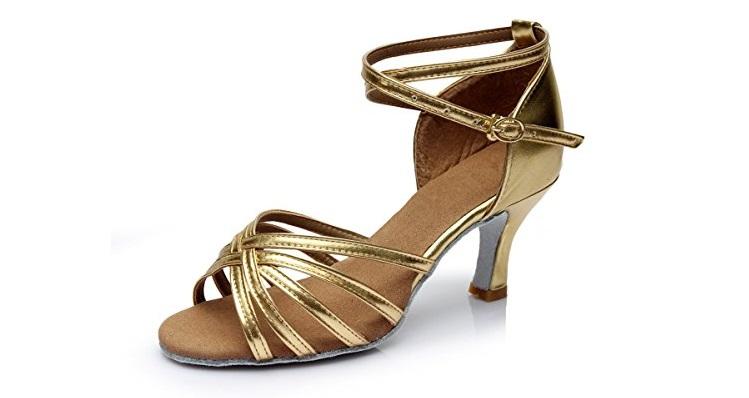 4e0b45c7ec Los zapatos dorados que se presentan a continuación han sido especialmente  diseñados para combinarse con vestidos rosa palo de fiesta pues cuentan con  un ...