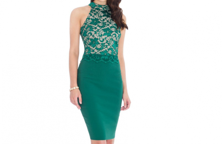 Vestido verde esmeralda casual