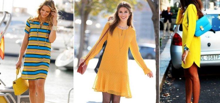 Cómo combinar un vestido amarillo