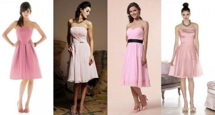 robes rose courtes pour soirée de mariage