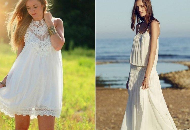 Vestido blanco fiesta ibicenca