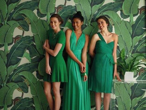 Que zapatos usar con vestido largo verde